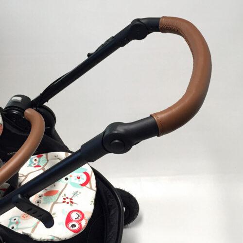 SONDERANFERTIGUNG: Griffschoner zum Schnüren - Kinderwagen mit durchgehendem Schaumstoffgriff