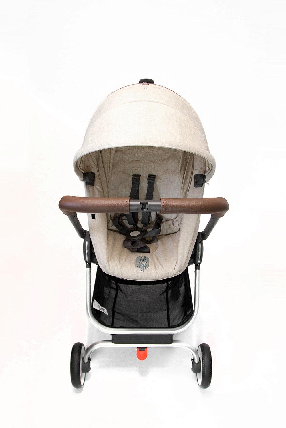 SONDERANFERTIGUNG: Griffschoner zum Schnüren - Kinderwagen mit 2-geteiltem Schaumstoffgriff