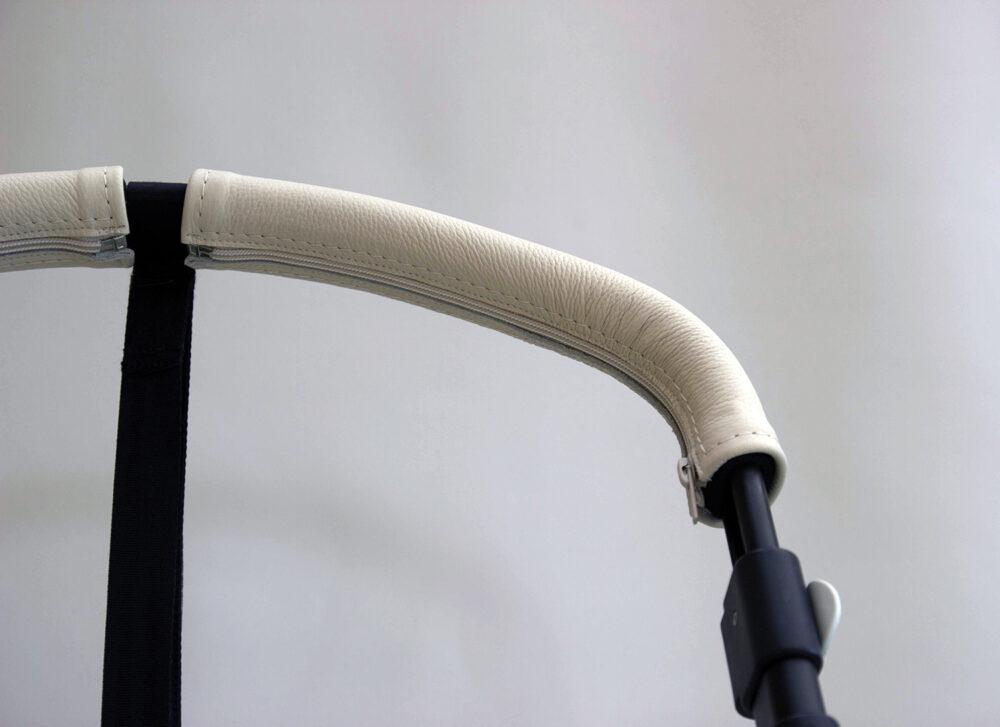 SONDERANFERTIGUNG: Griffschoner mit Zip – Kinderwagen mit 2-geteiltem Schaumstoffgriff
