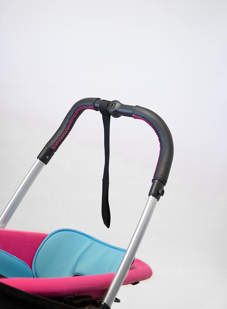 SONDERANFERTIGUNG: Griffschoner zum Schnüren – Kinderwagen mit 2-geteiltem Schaumstoffgriff